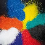 coloured collage sand