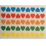 Heart Labels Assorted Colours 13mm