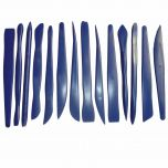 This value pack of 14 double ended plastic clay tools is just what you need for creating small and accurate clay designs. These tools are double ended with a variety of shapes to encourage cutting, forming and sculpting. Each tool is 15cm long and made ou