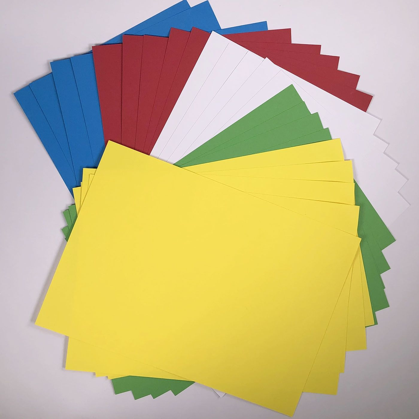 mixed colourful card