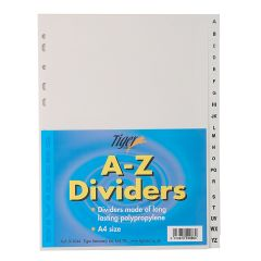 Plastic A-Z Subject Dividers