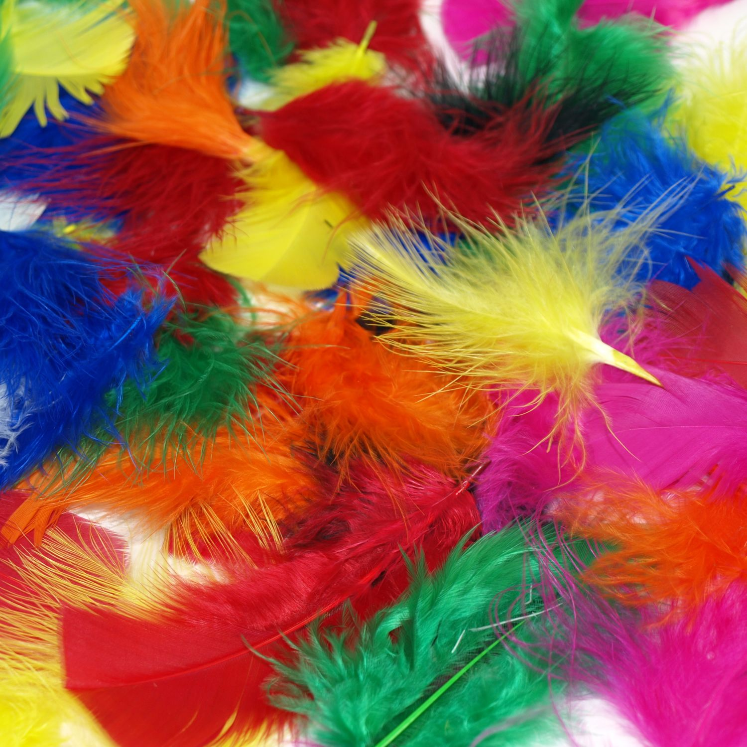 fluffy craft feathers