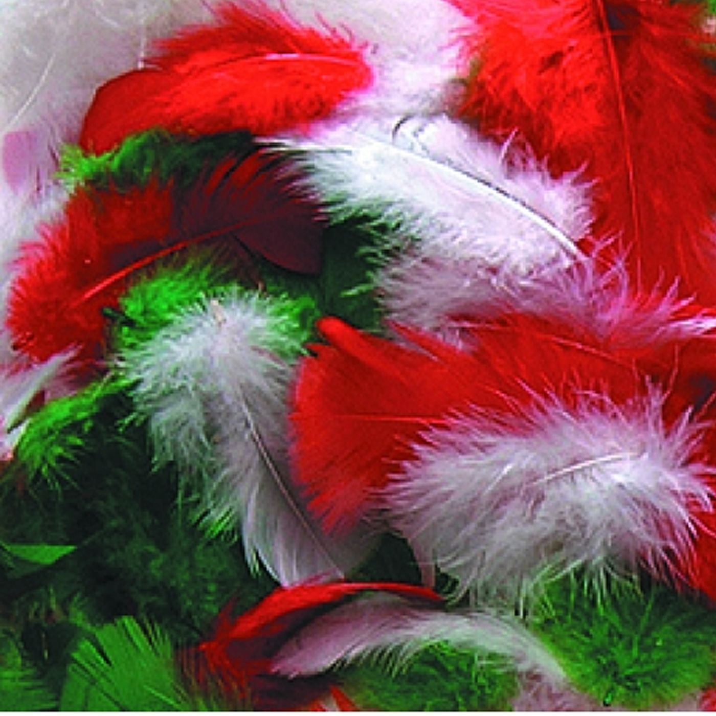 Christmas feathers