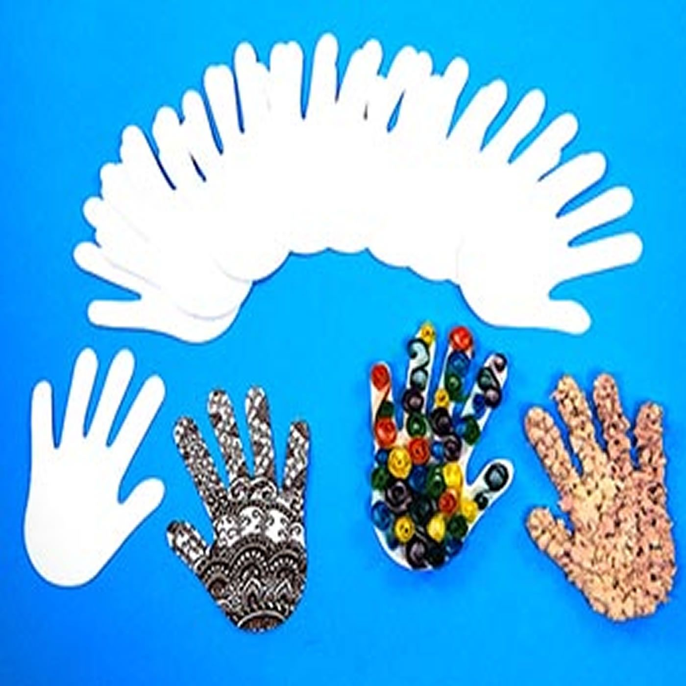Child Size Paper Hand Pad Cut Out Shapes