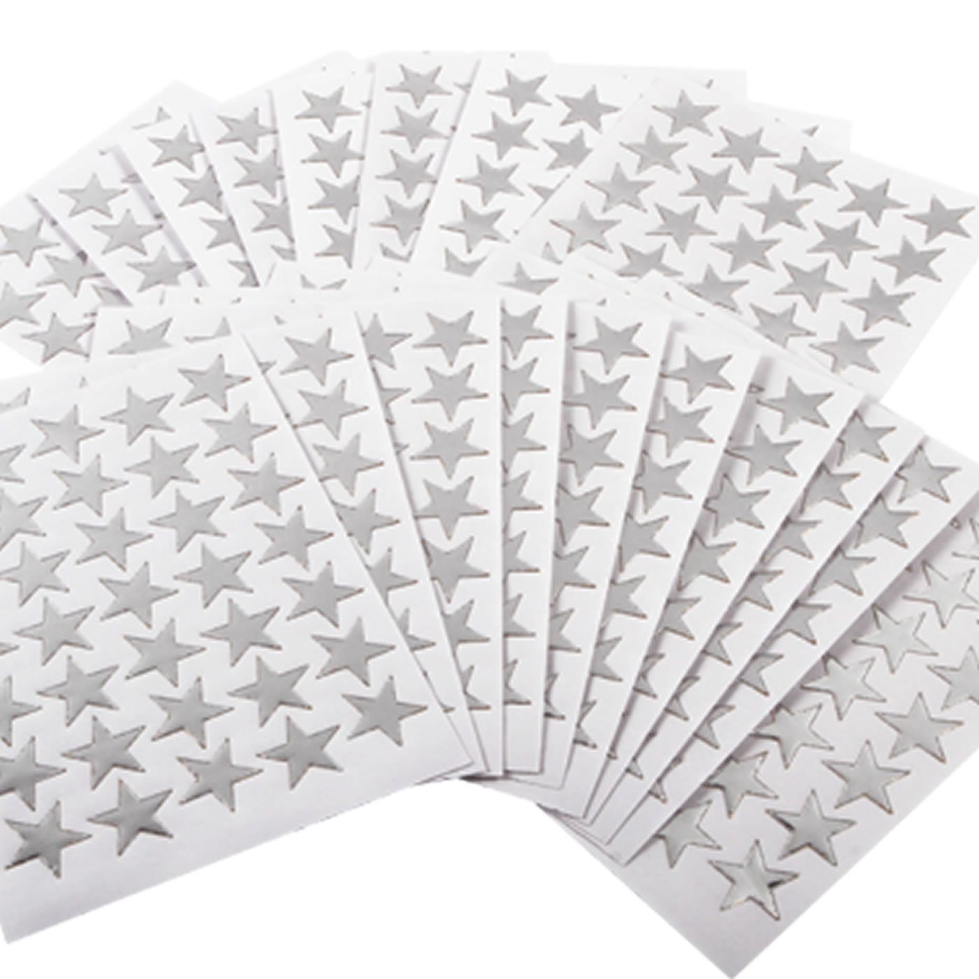Silver Star Stickers