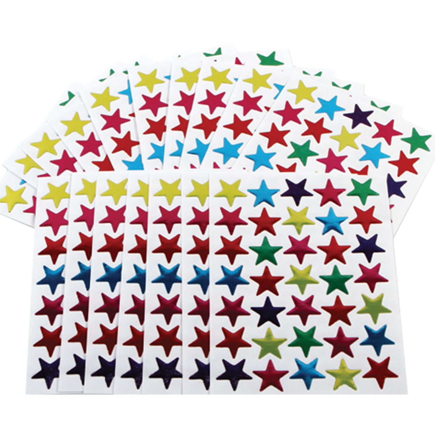 Coloured Star Stickers