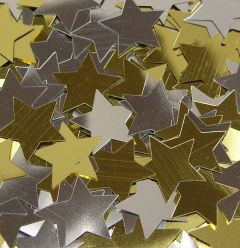 gold and silver star sprinkles