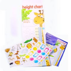 Children's height chart with jungle pictures