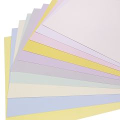 pastel coloured card