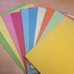 Recycled A3 light ten colour card