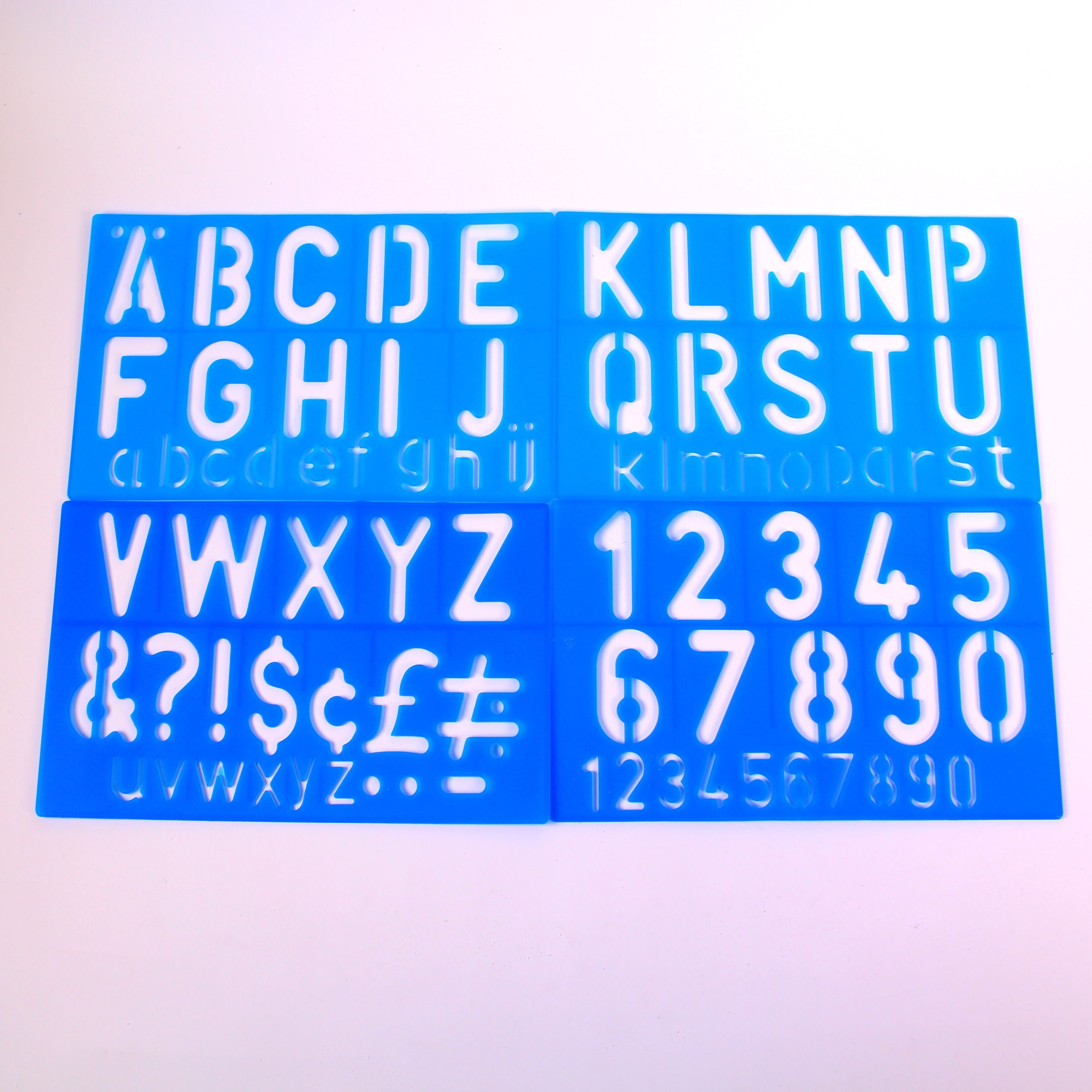 Lettering and Signwriting Stencil Sheets Pack of 4