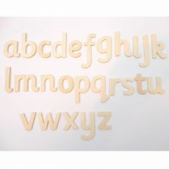 lowercase wooden letters