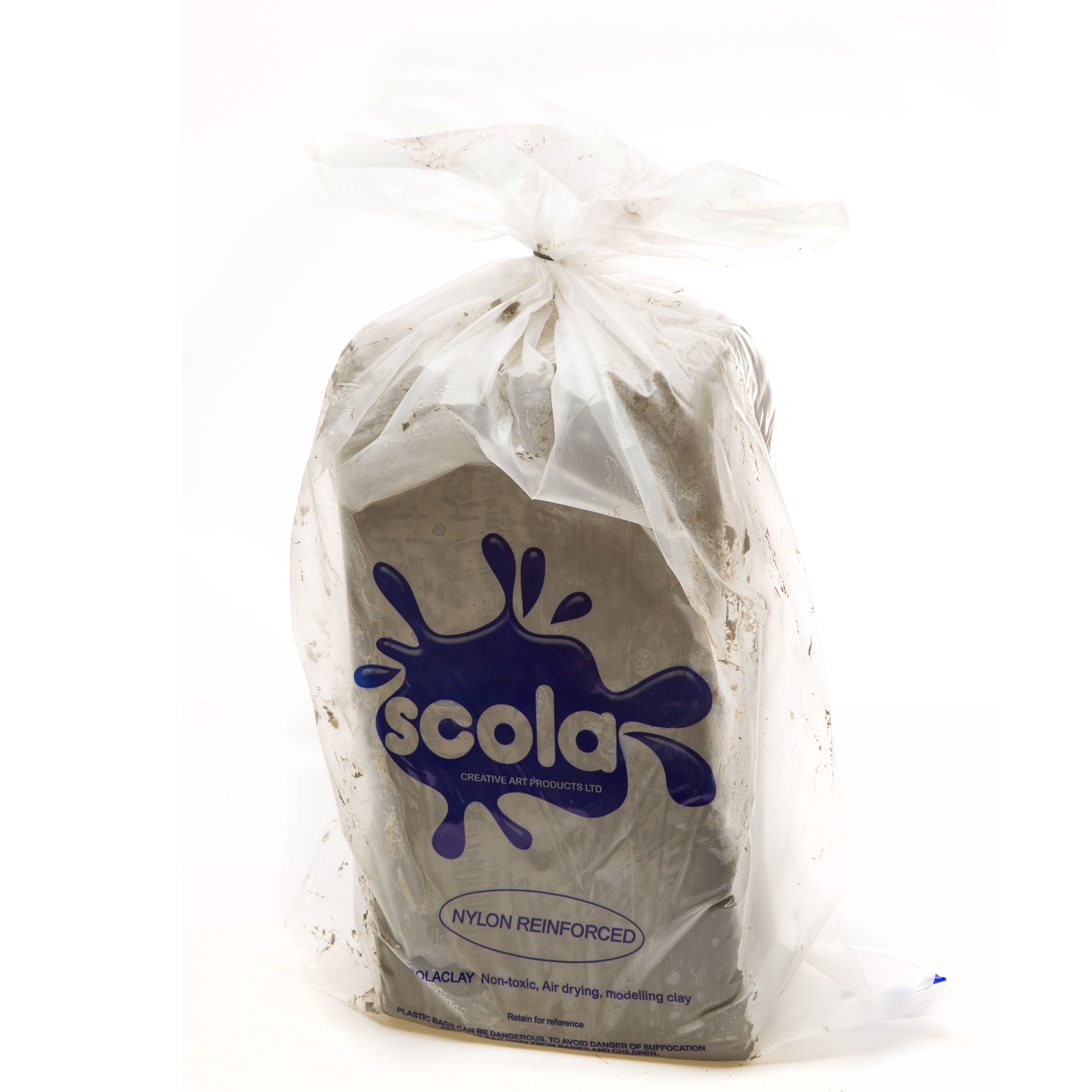 Air Drying Clay (with fibres) 12.5 kg Sack in Stone
