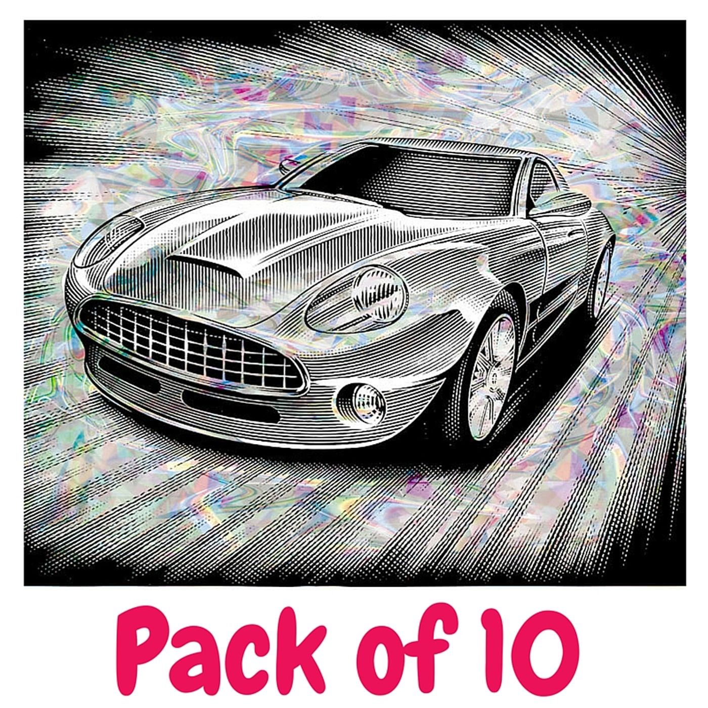 Holographic Scraperfoil 152mm x 101mm, Pack of 10