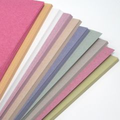 Recycled pastel colour sugar paper