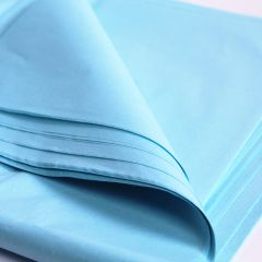 blue tissue paper sheets