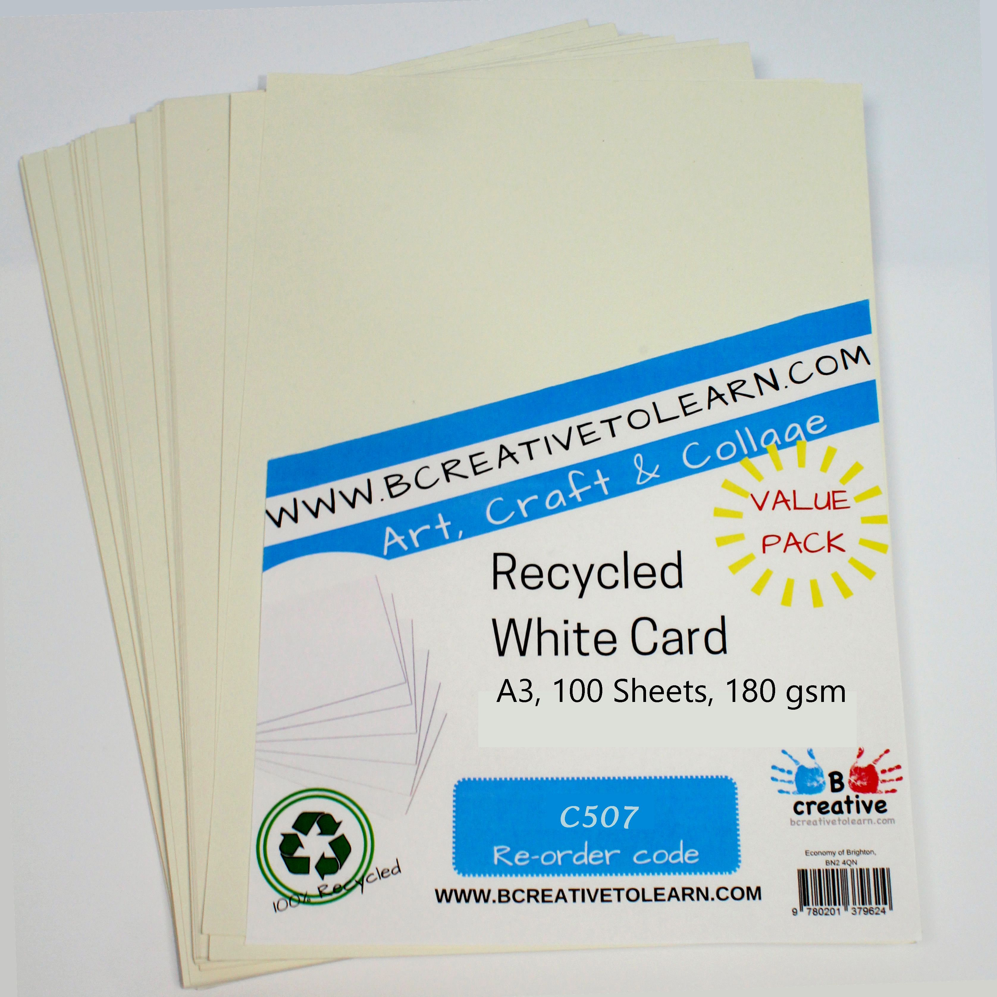 Recycled A3 White Card 180gsm