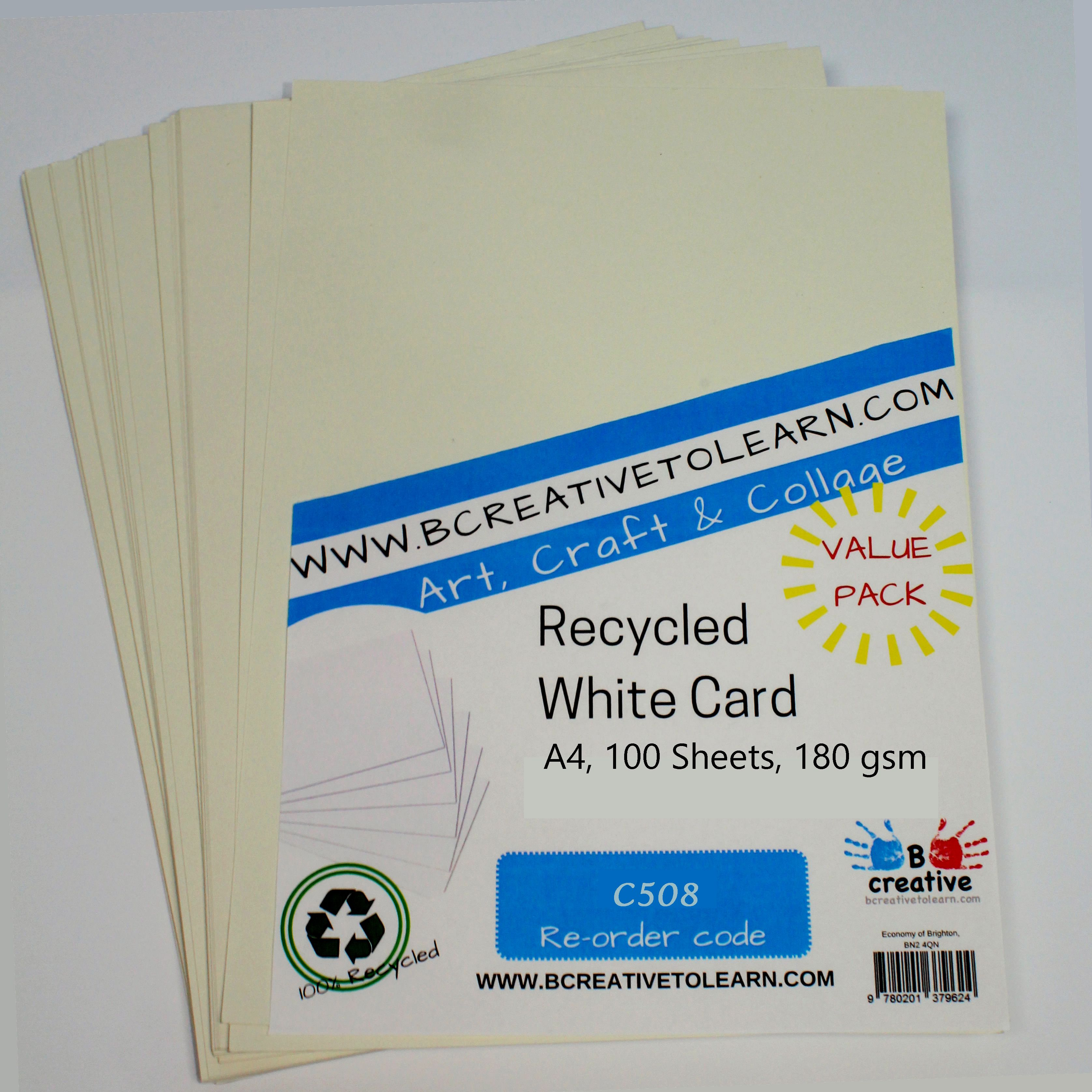 Recycled A4 White Card 180gsm